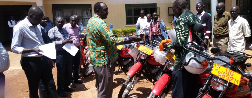 Handover of Motorcycles